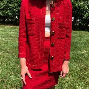 Vintage Red Chanel Tweed Jacket